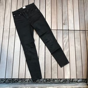 "J CREW Black 9"" High Rise Toothpick Slim Fit Jeans"